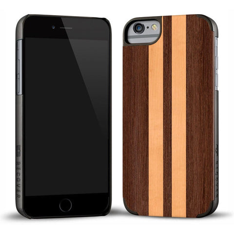 Recover Classic Wood iPhone 6 Plus Case | Wenge & Maple Stripe