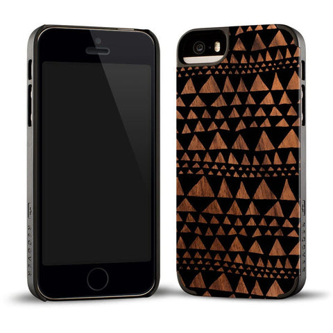 Recover Printed Black Triangle Wood iPhone 5/5s Case | Walnut