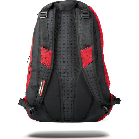 Sprayground Red Knit Shark Backpack | Red W/Blk 9100B866NSZ