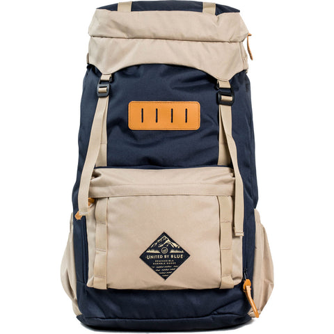 United By Blue 45L Range Daypack Backpack | Navy/Tan- RANGE-NV