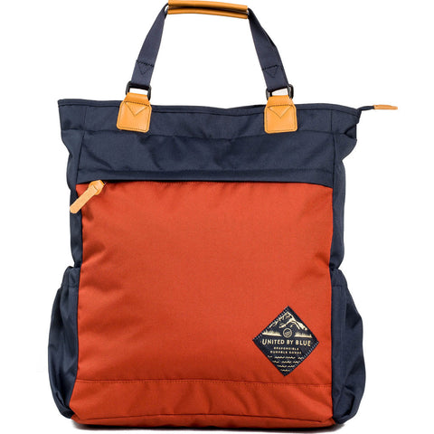 United by Blue Summit Convertible Tote Pack | Navy/Rust