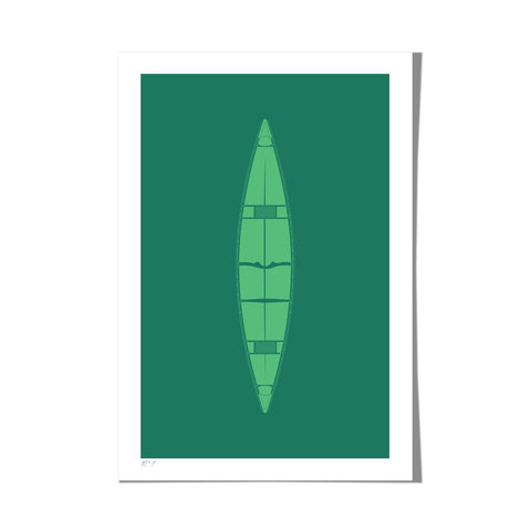 "Roo Kee Roo Art Print | Canoe Two-Color 13"" x 19"""