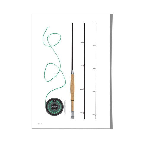 "Roo Kee Roo Art Print | Fly Rod 13"" x 19"""