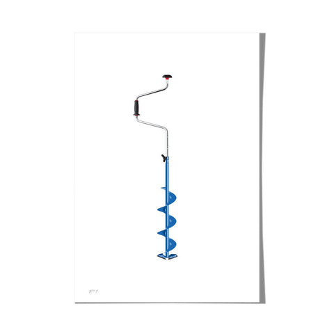 "Roo Kee Roo Art Print | Ice Fishing Auger 13"" x 19"""
