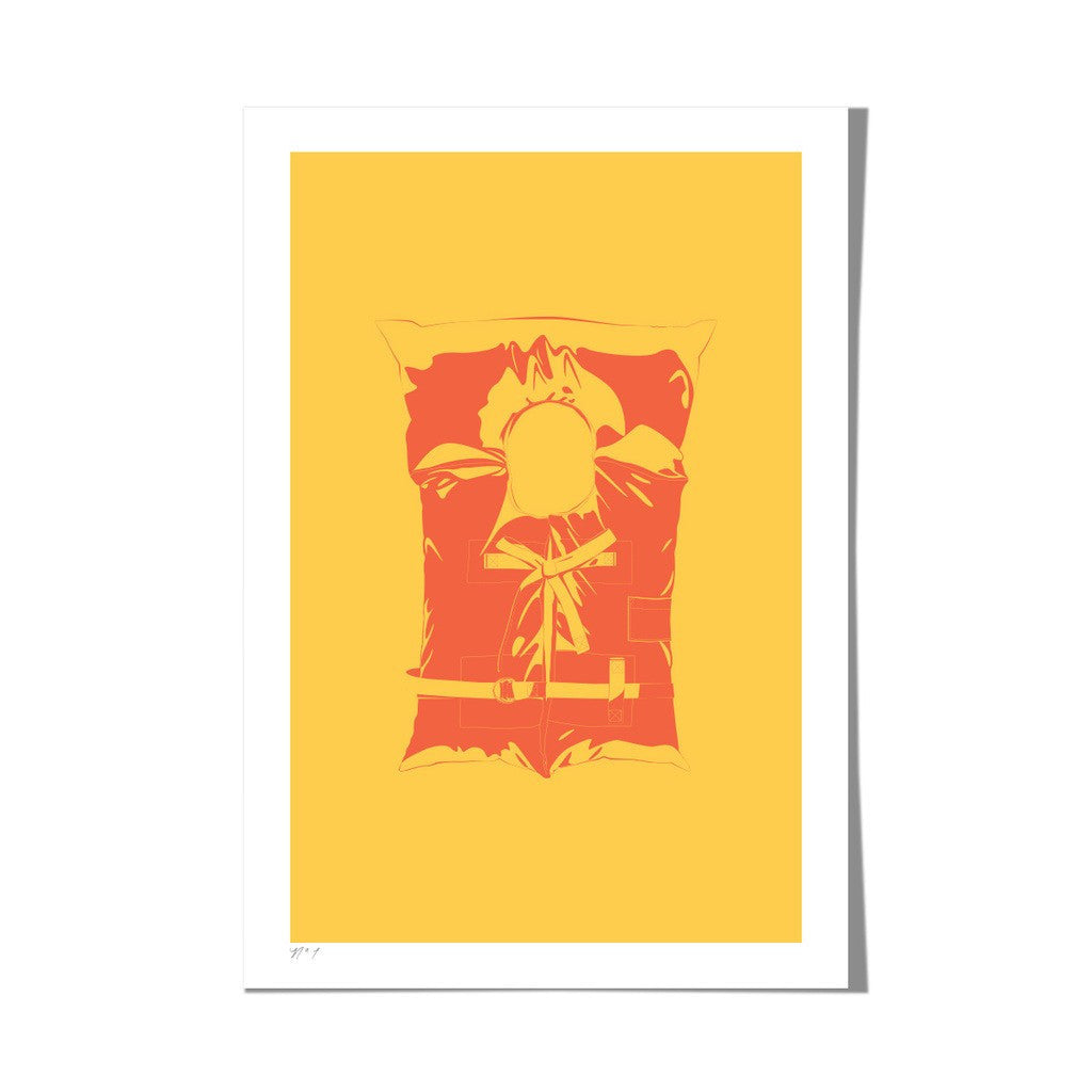 "Roo Kee Roo Art Print | Life Jacket Two-Color 13"" x 19"""