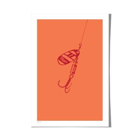 "Roo Kee Roo Art Print | Lure III Two-Color 13"" x 19"""