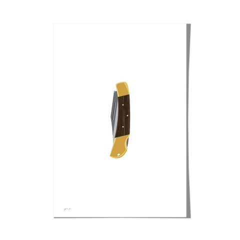 "Roo Kee Roo Art Print | Pocket Knife 13"" x 19"""
