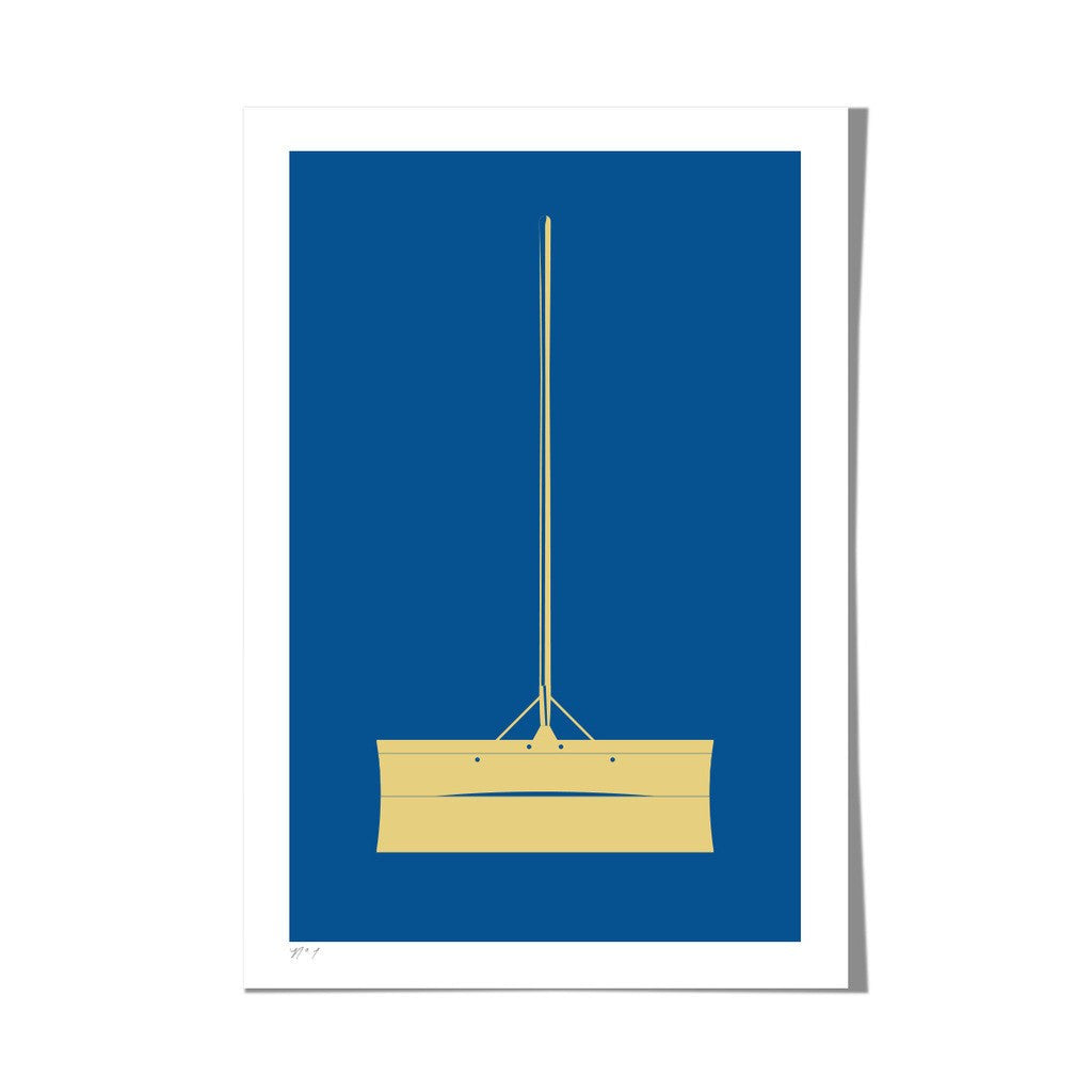 "Roo Kee Roo Art Print | Snow Shovel Two-Color 13"" x 19"""
