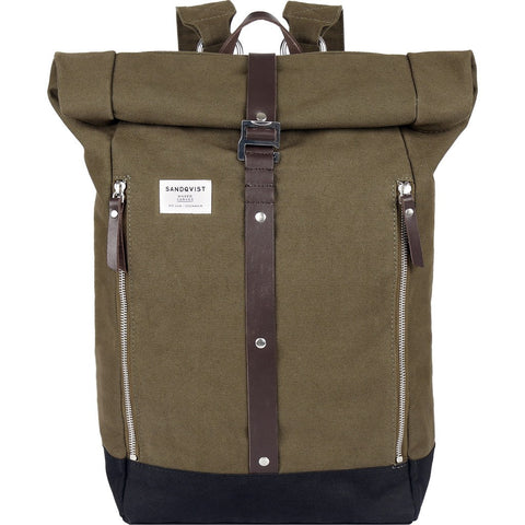 Sandqvist Rolf Rolltop Backpack | Waxed Olive SQA610