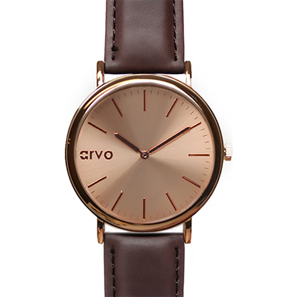 Arvo Rose Time Sawyer Watch | Rose/Espresso RTSES
