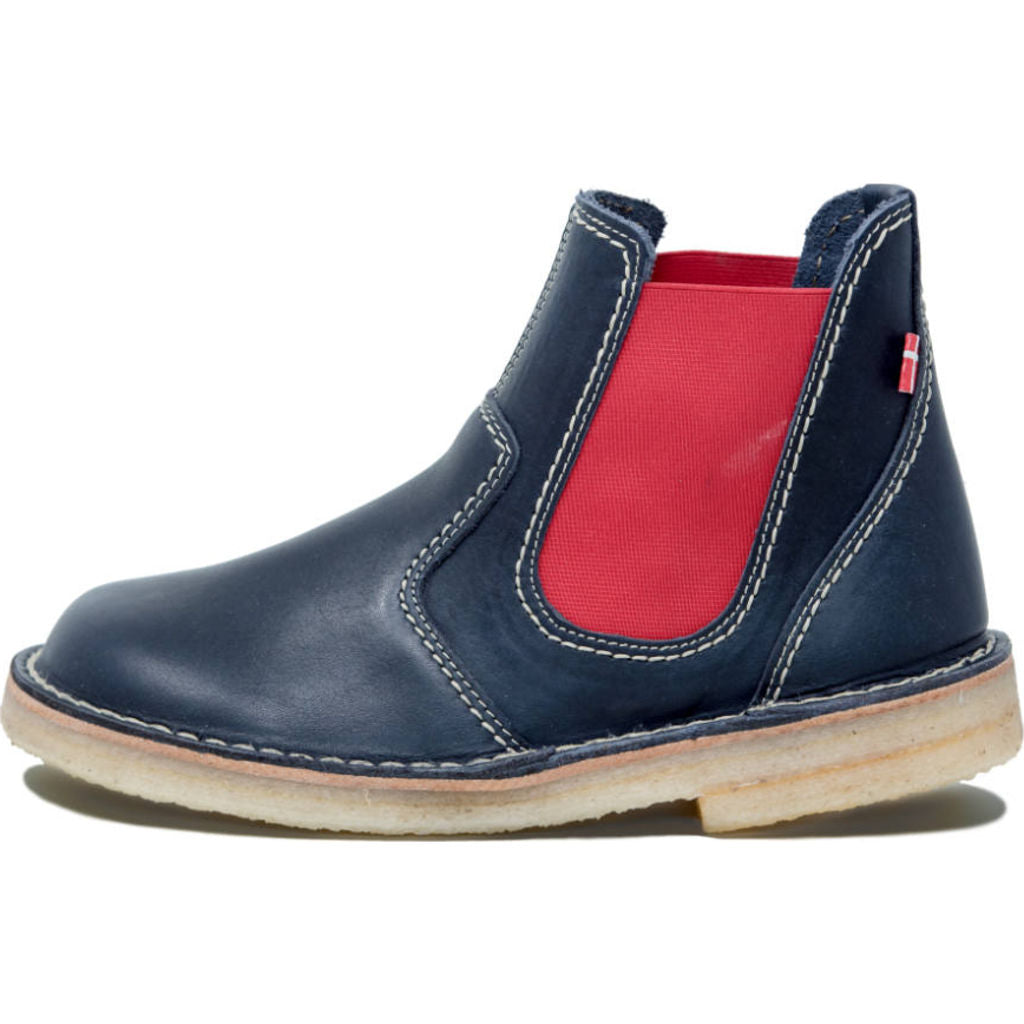 Duckfeet Roskilde Leather Boots in Blue/Red