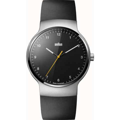 Braun 0221 Black Slim Prestige Analog Men's Watch | Rubber
