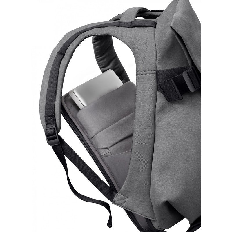 Cote et Ciel Isar Medium Eco Yarn Backpack | Black Melange 27711