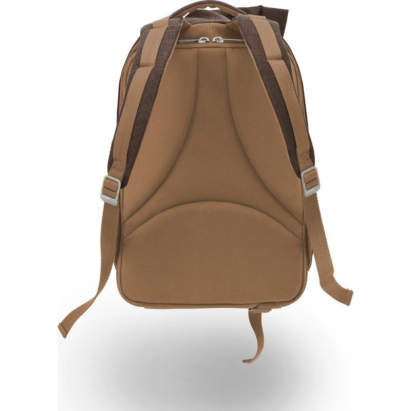 Cote et Ciel Isar Medium Raw Canvas Backpack | Roasted Chestnut