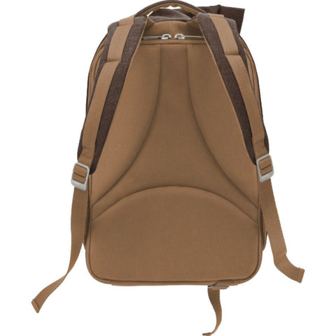 Cote et Ciel Isar Large Raw Canvas Backpack | Roasted Chestnut 28073