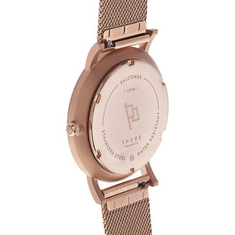 Shore Projects Salacombe Watch with Mesh Strap | Rose Gold S021R