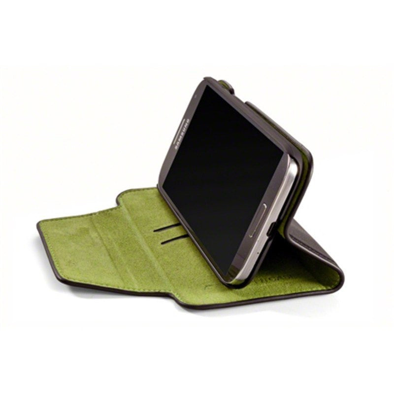 ElementCase Soft-Tec Leather Samsung Galaxy S4 Wallet Black/Green