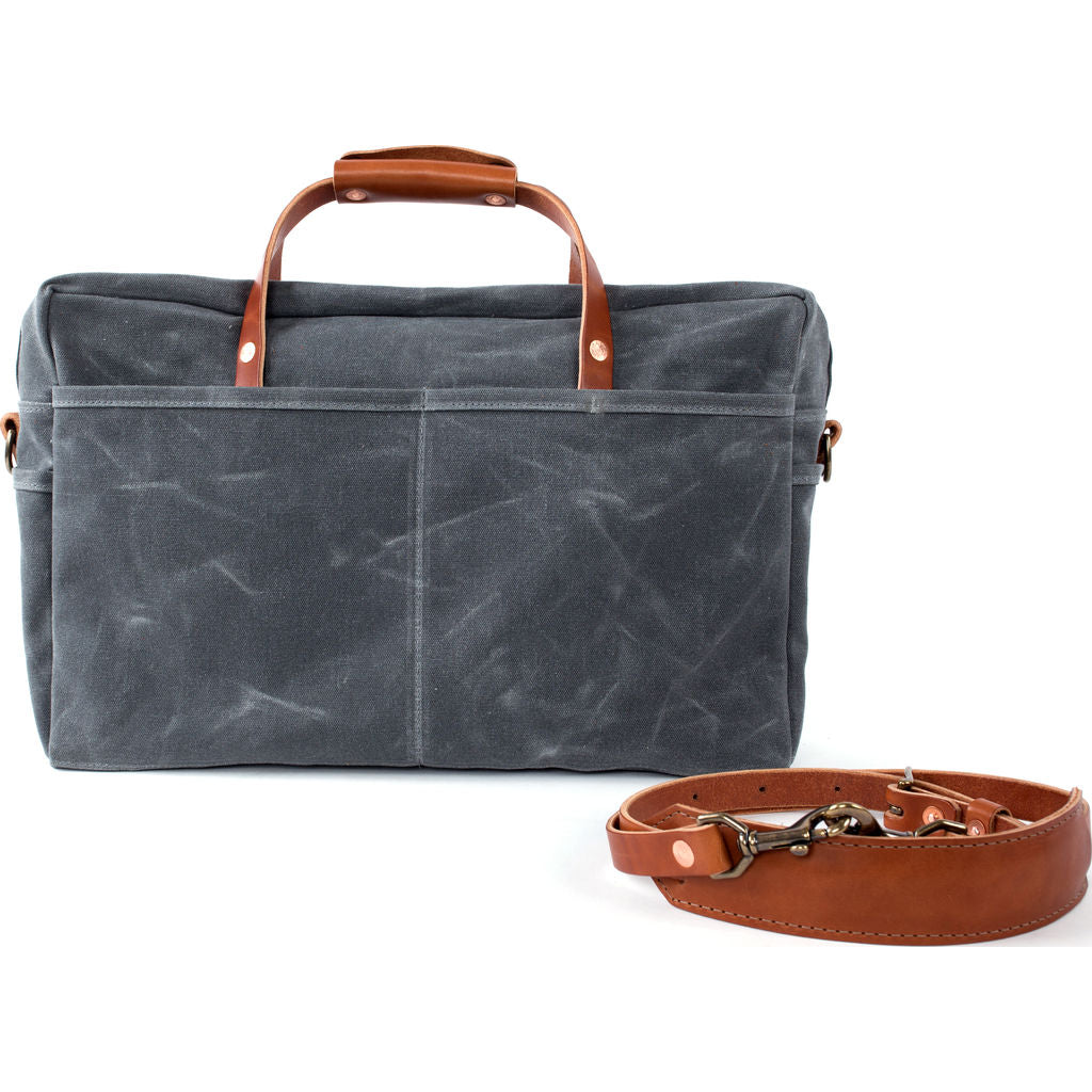 Bradley Mountain Courier Briefcase | Charcoal