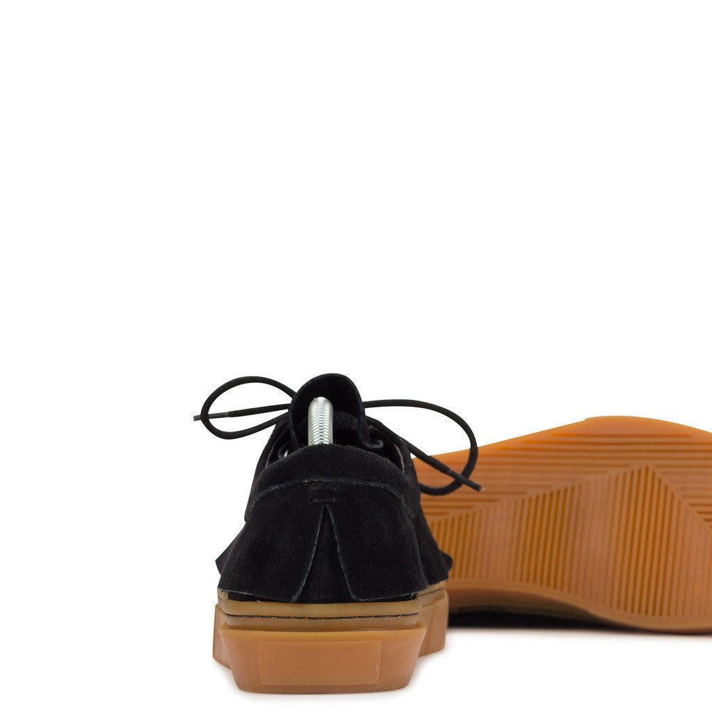 Clear Weather Santora Laced Moccasins | Black Suede/Gum CRW-003-BLG