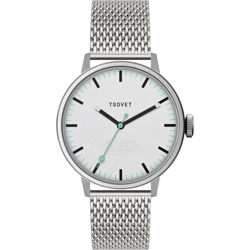Tsovet SVT-SC38 White & Black Watch | Stainless Steel SC111501-40