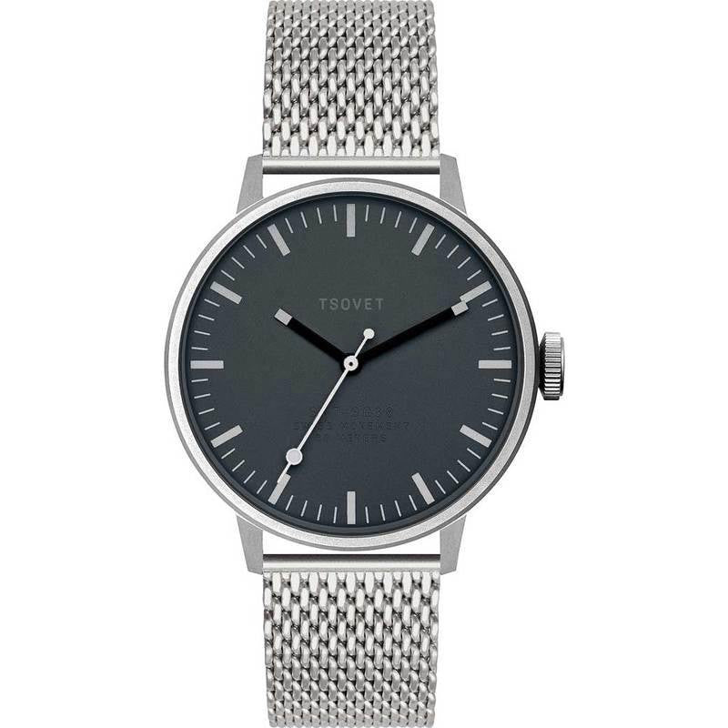 Tsovet SVT-SC38 Steel & Gunmetal Watch | Stainless Steel SC111801-45