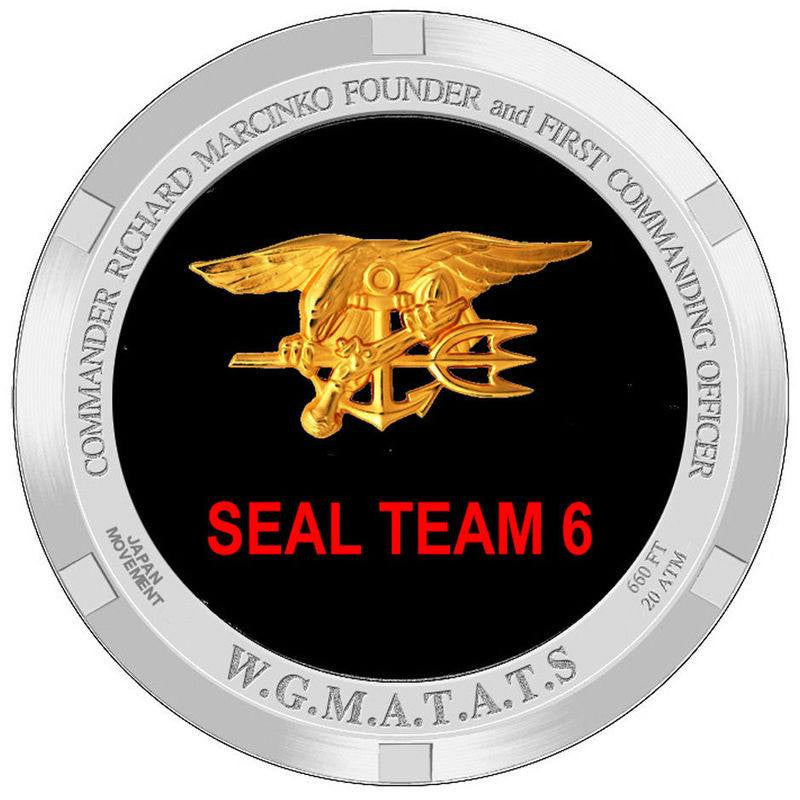 Seal Team Six Richard Marcinko Watch Back