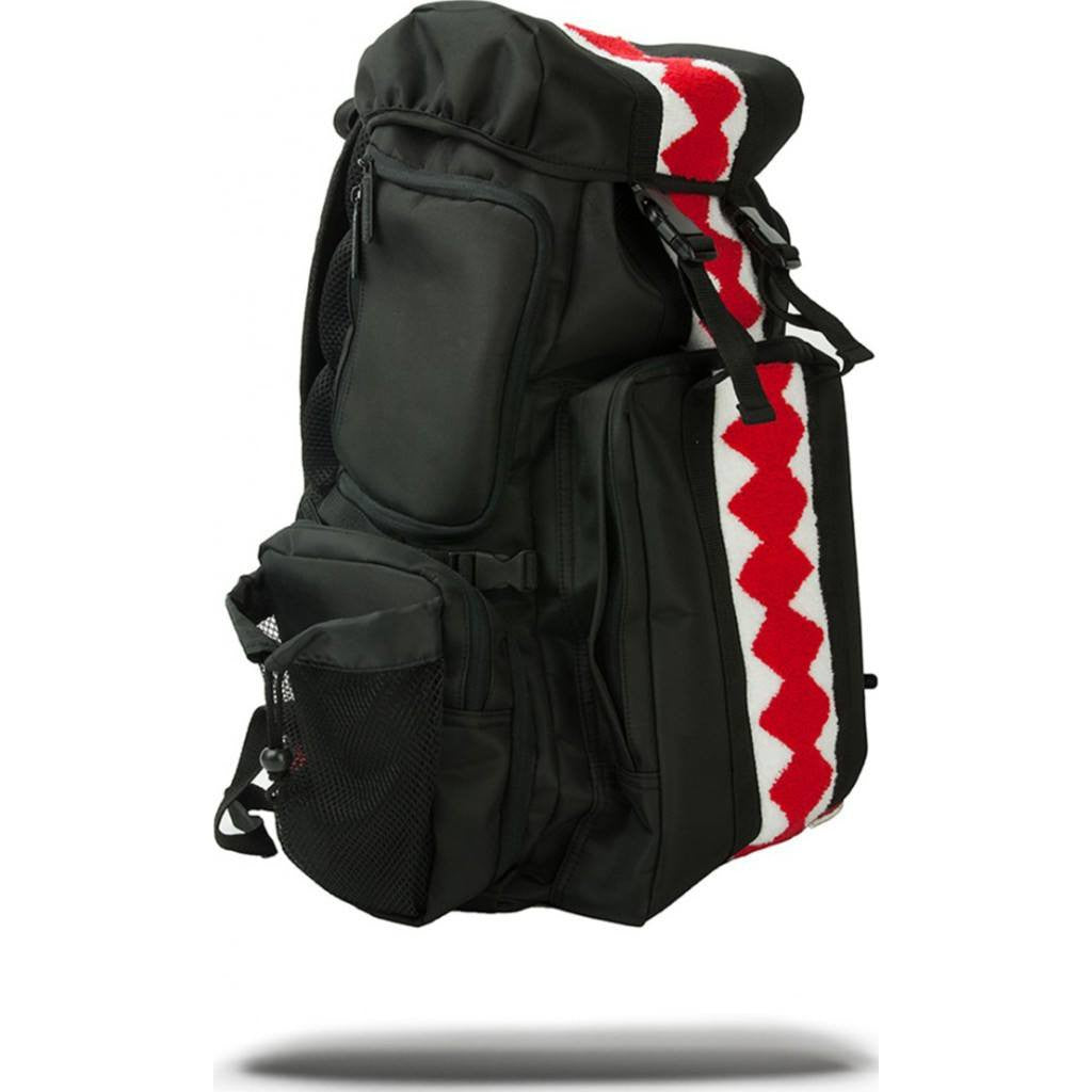 Sprayground Verticle Shark Chenille Backpack | Black