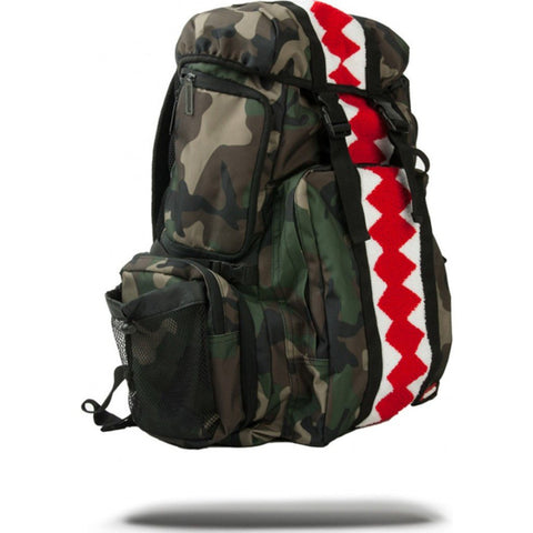 Sprayground Verticle Shark Chenille Camo Backpack | Camo Print