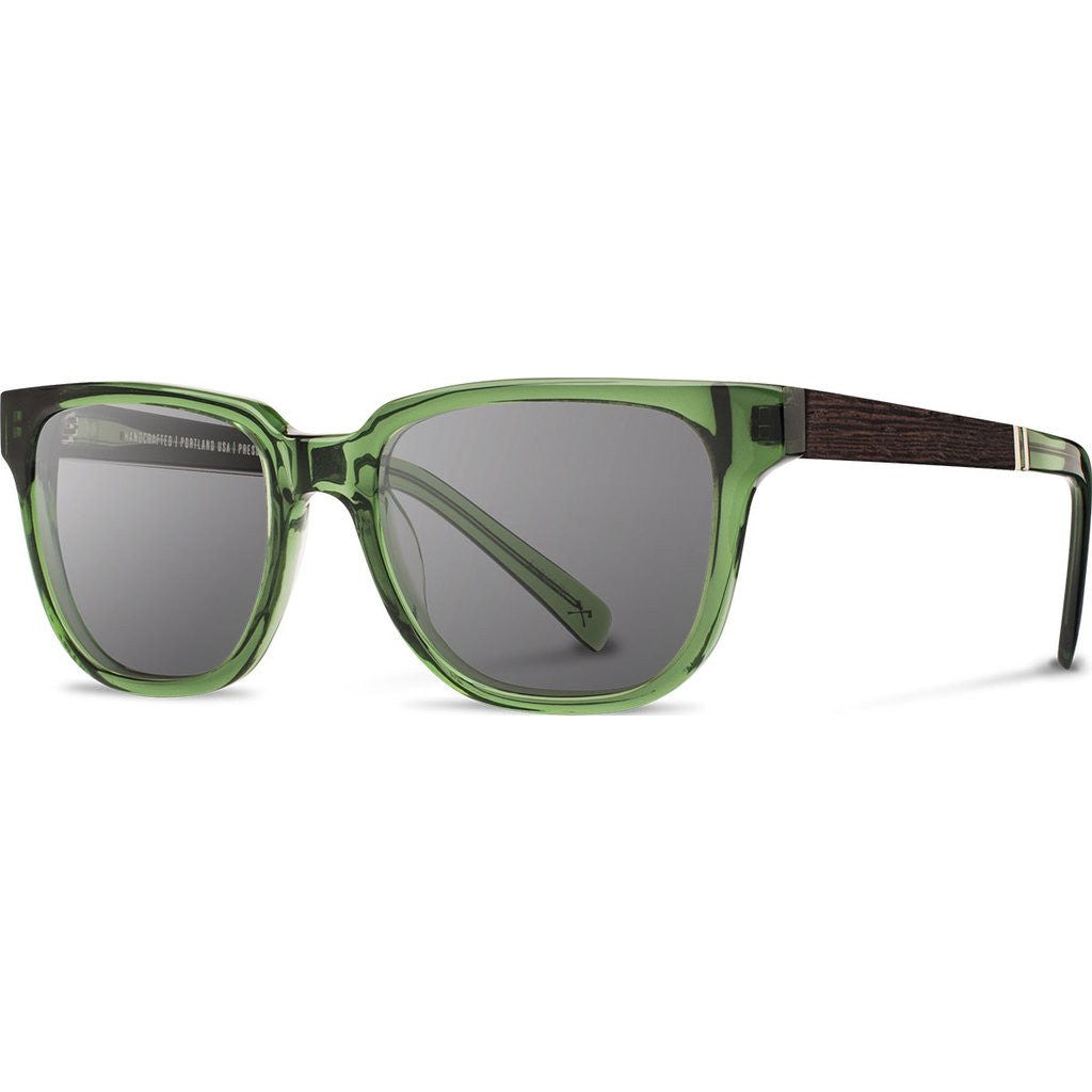 Shwood Prescott Acetate Sunglasses | Emerald & Ebony / Grey Polarized WAPEEBGP
