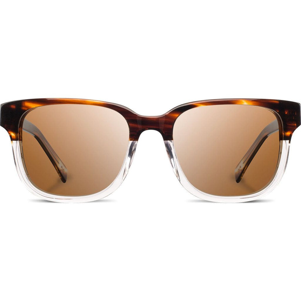 Shwood Prescott Acetate Sunglasses | Whiskey Soda & Ebony / Brown WAPWSEBB