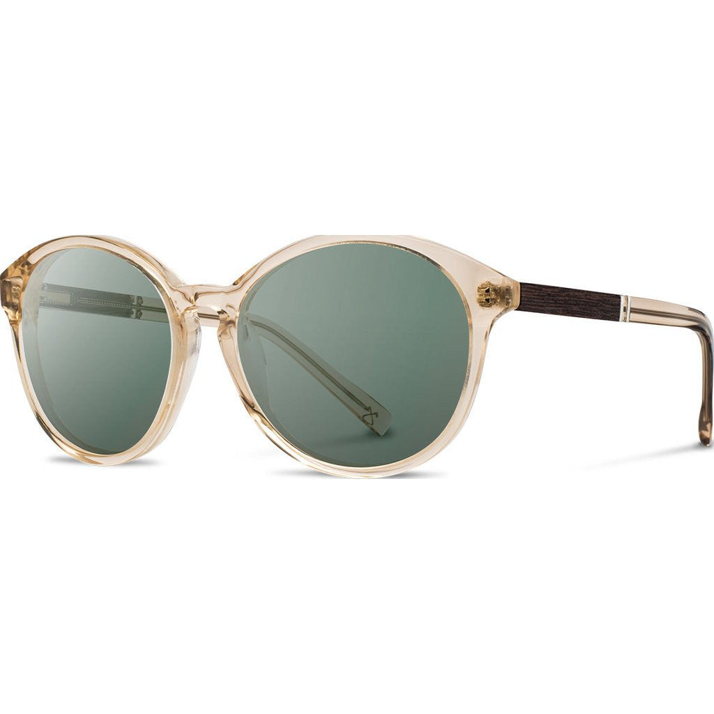 Shwood Bailey Acetate Sunglasses | Champagne & Ebony / G15 Polarized
