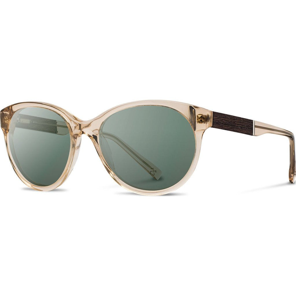Shwood Bailey Acetate Sunglasses | Champagne & Ebony / G15