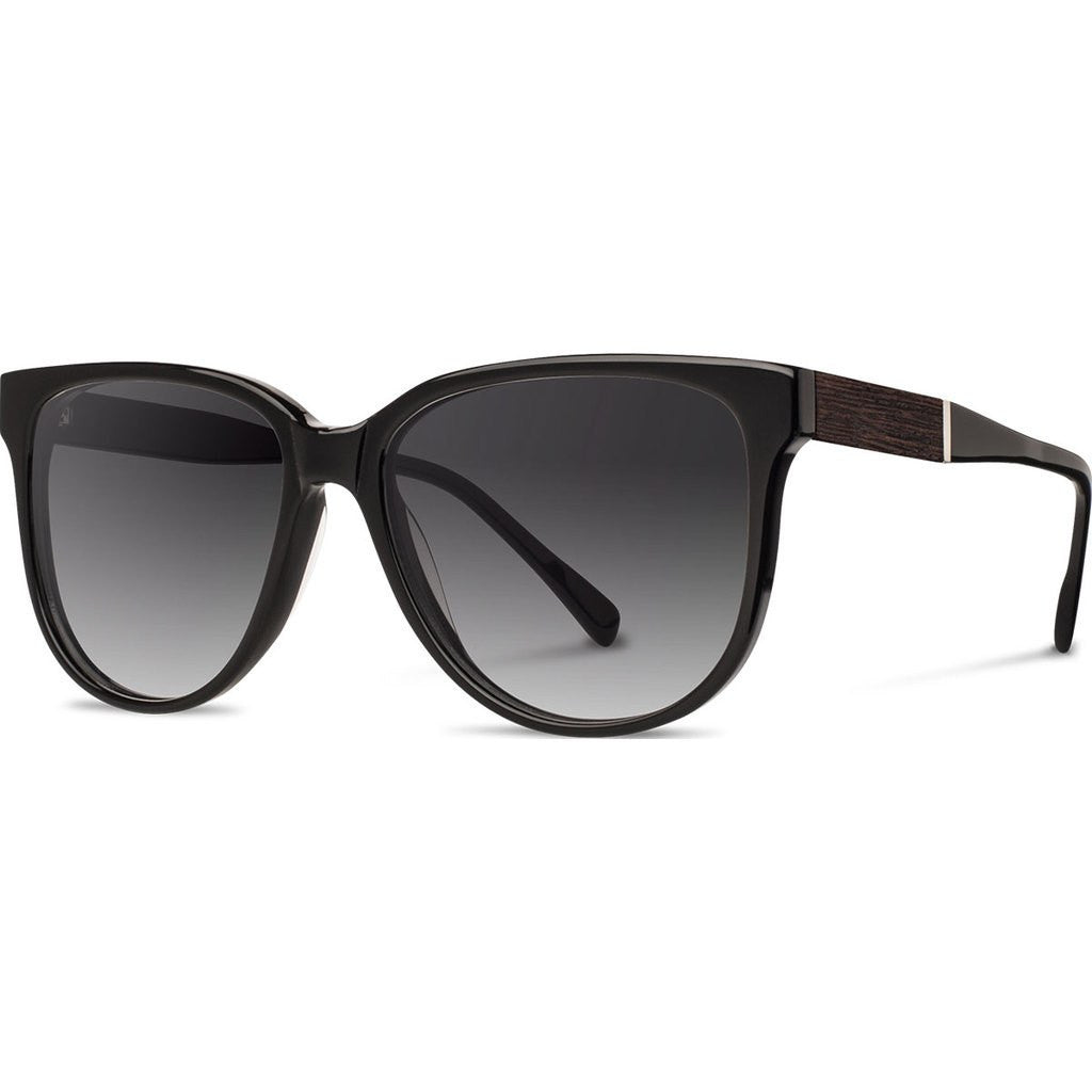 Shwood Mckenzie Acetate Sunglasses | Black & Ebony / Grey Fade Polarized WWAM3BG2P