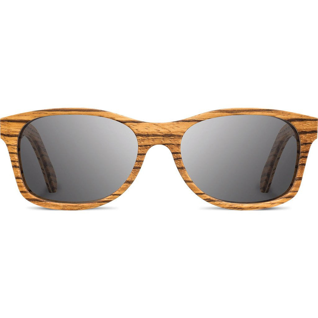 Shwood Cannon Original Sunglasses | Zebrawood / Grey WOC2ZG