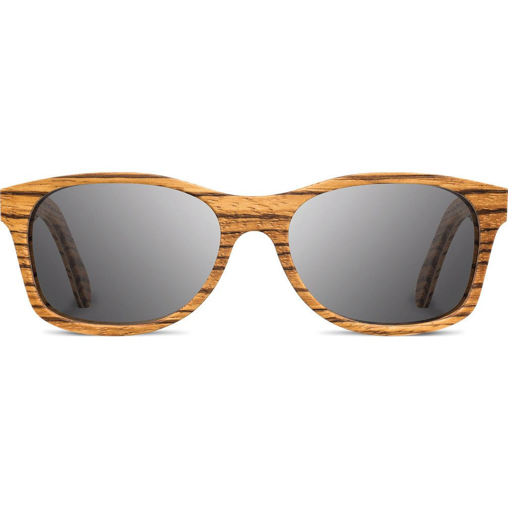 Shwood Cannon Original Sunglasses | Zebrawood / Grey Polarized WOC2ZGP