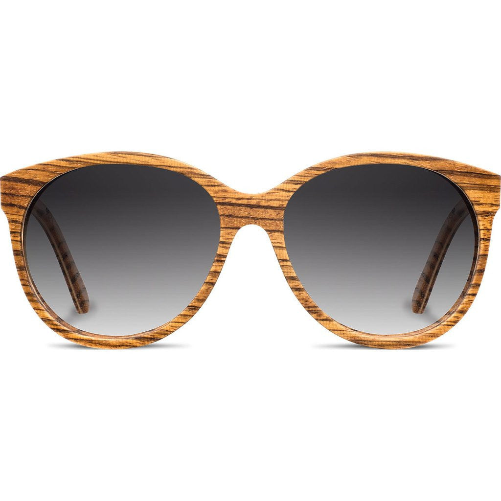 Shwood Madison Original Sunglasses | Zebrawood / Grey Fade Polarized WWOM2ZG2P