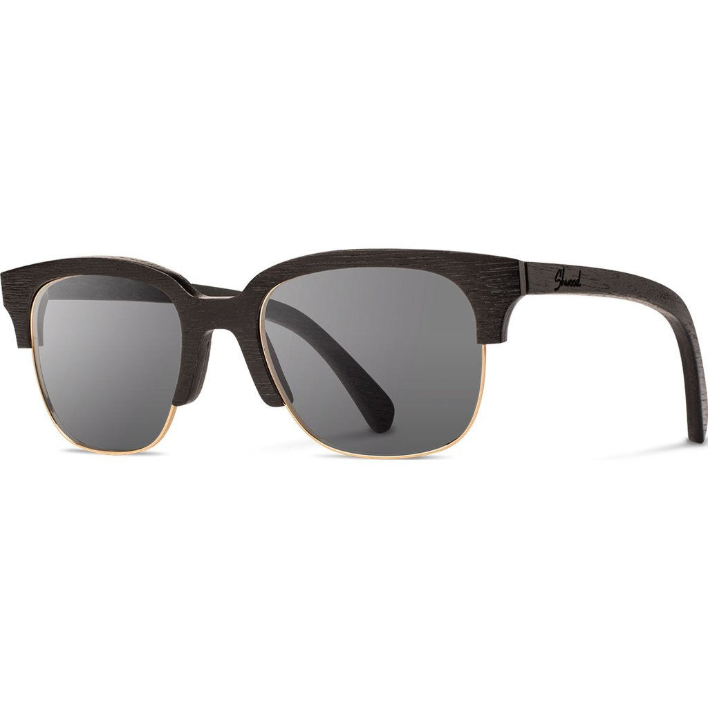 Shwood Newport Original 52mm Sunglasses | Dark Walnut / Grey Polarized WONDWGP