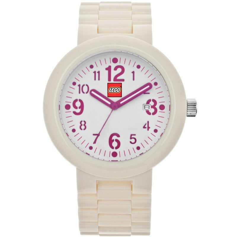 LEGO Silhouette Adult Watch | White/Pink