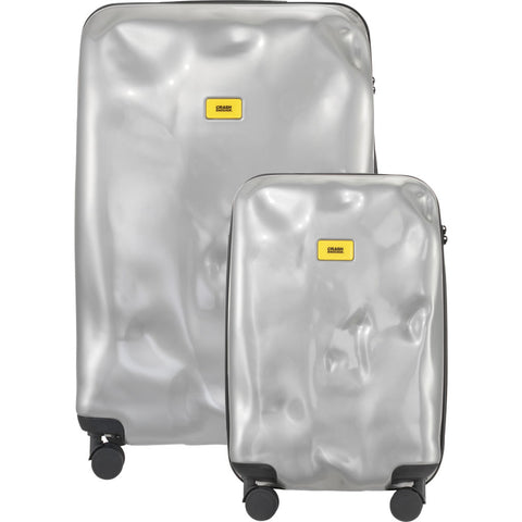 Crash Baggage Bright Set of 3 Trolley Suitcases | Silver Medal CB110-21