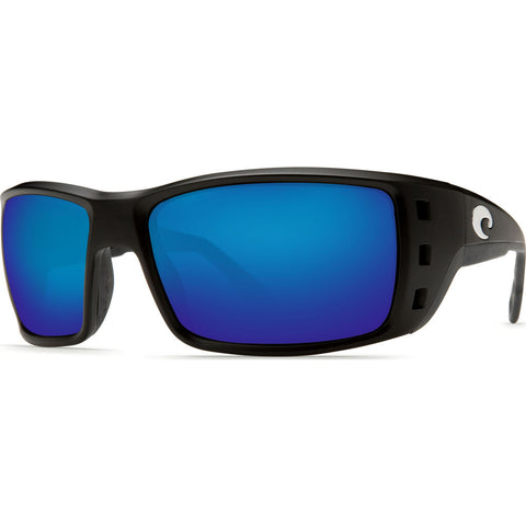 Costa Permit Matte Black Sunglasses | Blue Mirror Glass W580