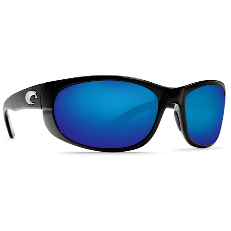 Costa Howler Shiny Black Sunglasses | Blue Mirror 580G
