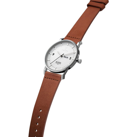Triwa Snow Klinga Brown Classic - Silver Buckle | KLST109-CL010212
