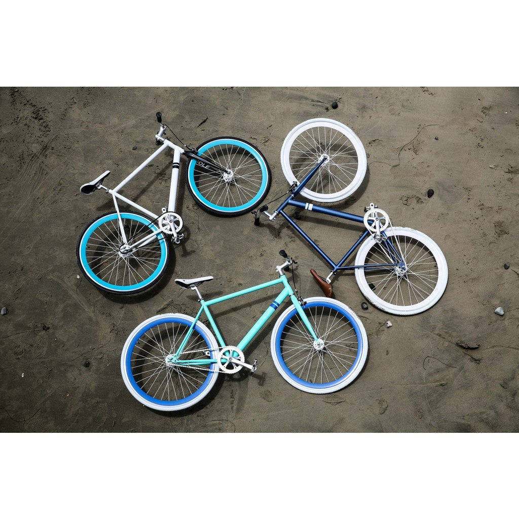 Sole Bicycles Whaler Fixed Single Speed Bike | Navy Blue/White Rims Sole 060-59