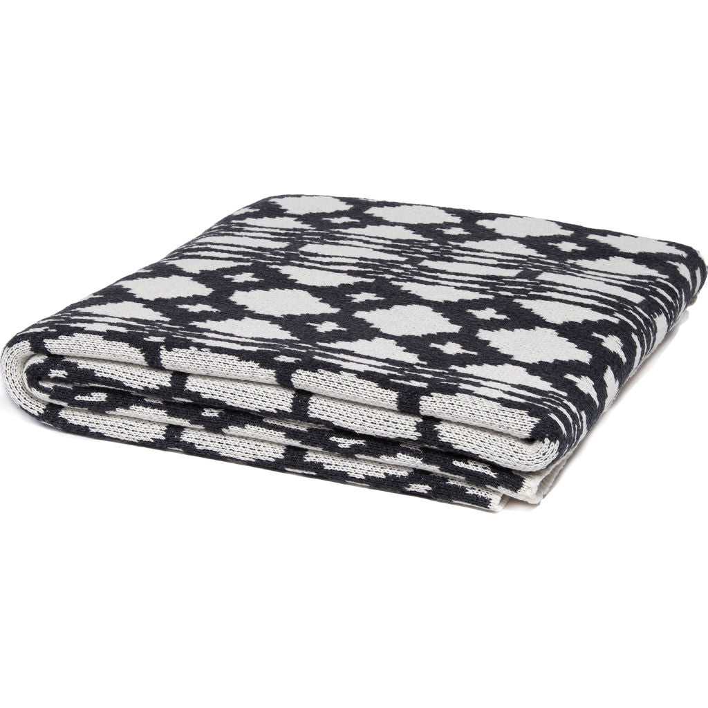 Stacy Garcia Southwest Eco Throw | Milk/Charcoal- SG-SW01