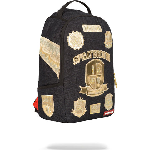 Sprayground Ivy League Backpack | Denim/Gold-910B1136NSZ