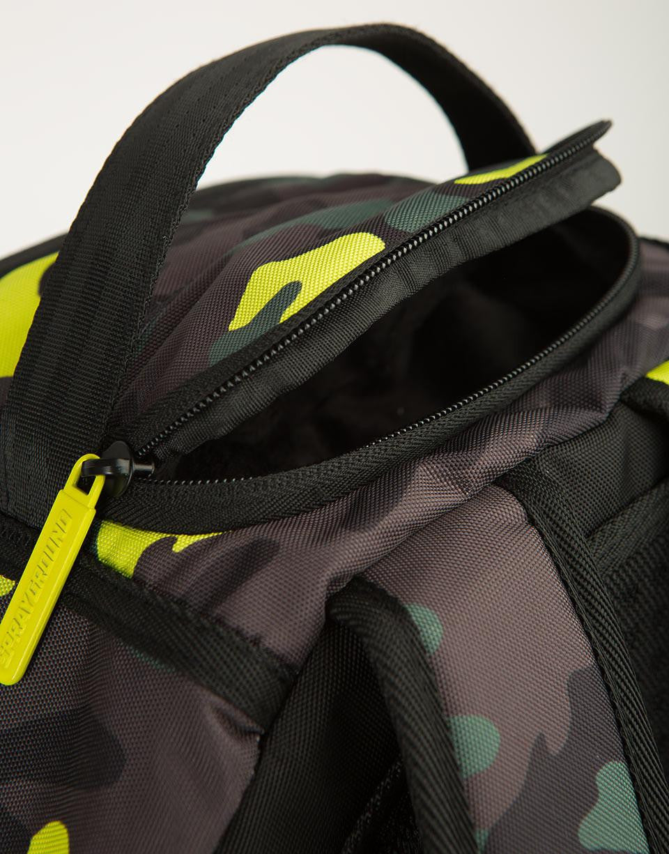 Sprayground Neon Camo Pockets Backpack Green 9100B923Nsz
