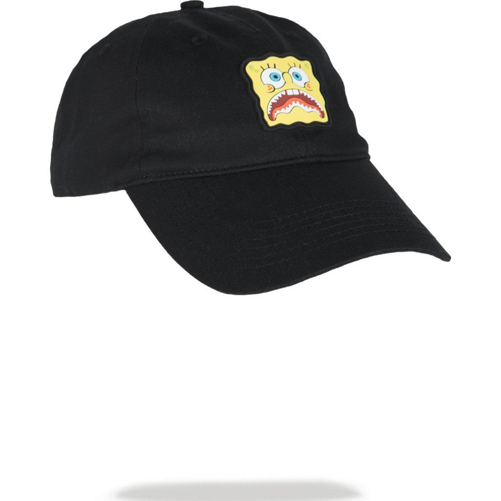 c959bc3988471 Sprayground Spongebob Shark Mouth Dad Hat Black 910Hw068Nsz - Sportique