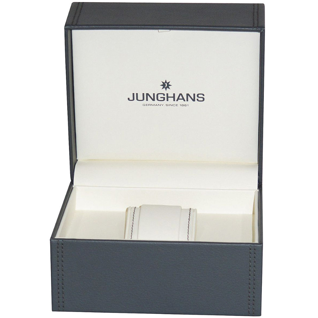 Junghans Max Bill Mega Radio-Controlled Analog Watch | Navy 058/4822.00