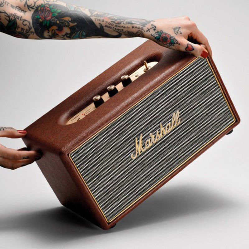 Marshall Stanmore Bluetooth Compact Speaker System | Brown