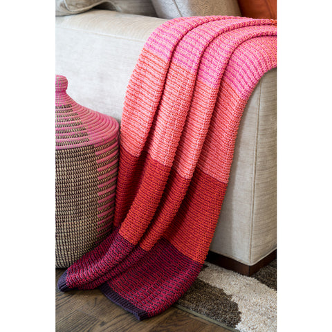 Stacy Garcia Stitch Stripe Eco Throw | Reds- SG-TX02
